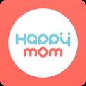 해피맘-육아맘 필수앱 (이웃맘 친구, 임신 출산 정보) icon