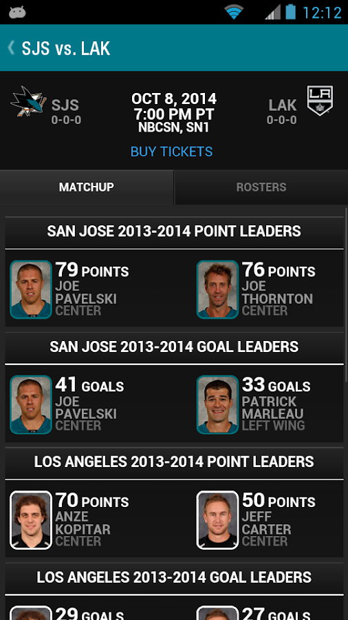 San Jose Sharks Official App - screenshot