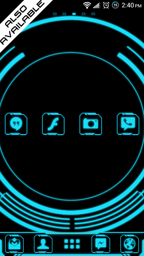Legacy Neon Go SMS Pro Theme - screenshot