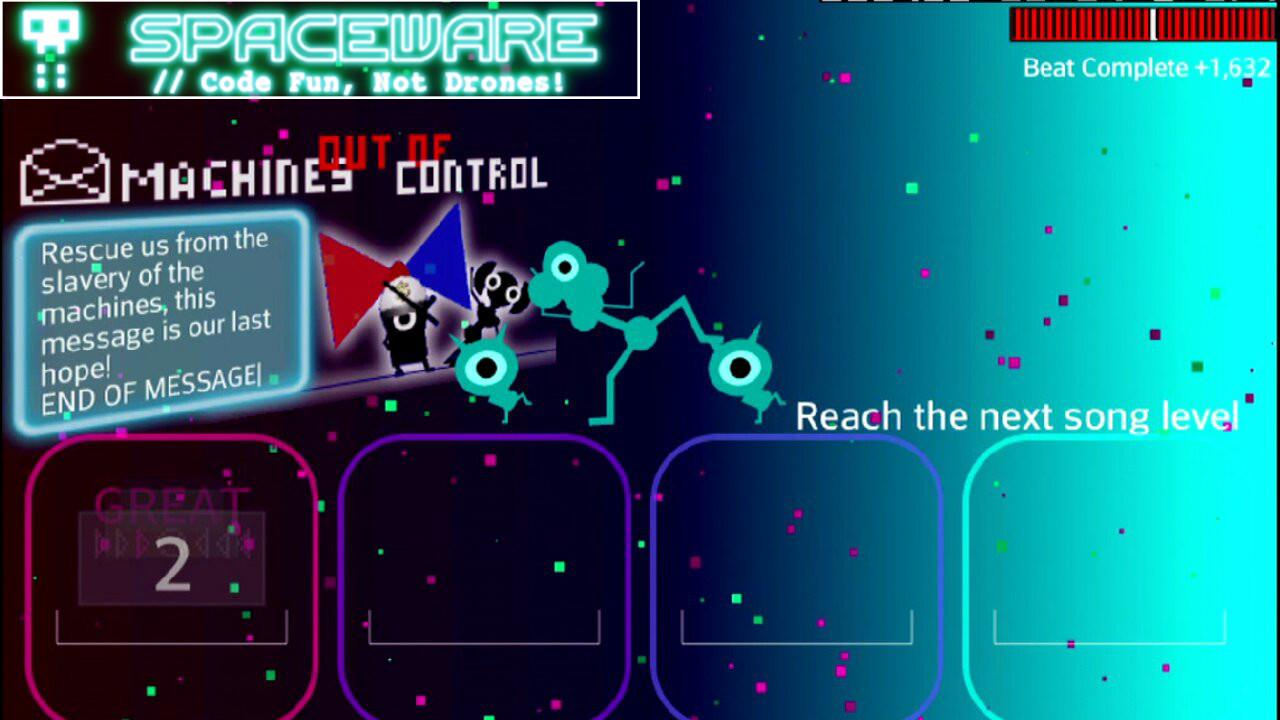 FLOW - A Space Drum Saga- screenshot