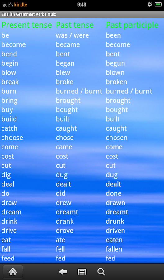 English Grammar: Verbs Free- screenshot