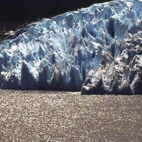 Alaskan glacier by Priscilla Capelle-Haehn - Landscapes Travel ( water, glacier, cold, blue, ice, alaska )