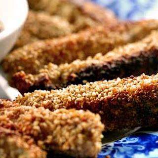 Sesame Fish Sticks.