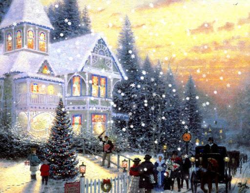 手绘聖誕壁紙