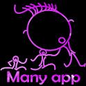 Many app icon