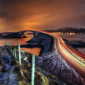 by Jan Helge - City,  Street & Park  Night ( night photography, road, bridge,  )