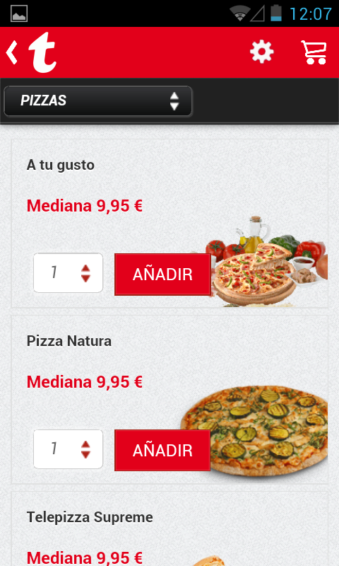 Telepizza- screenshot
