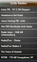 Screenshot of Urdu Radio Urdu Radios