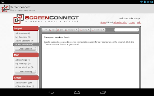 ScreenConnect Samsung Legacy- screenshot thumbnail