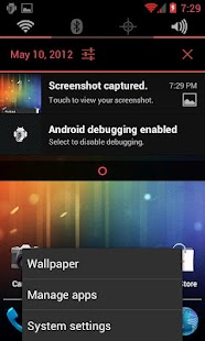 Holo Red CM9 Theme - screenshot thumbnail