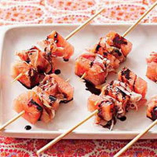 Watermelon-and-Prosciutto Skewers.