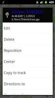 Screenshot of MyTrails SMS