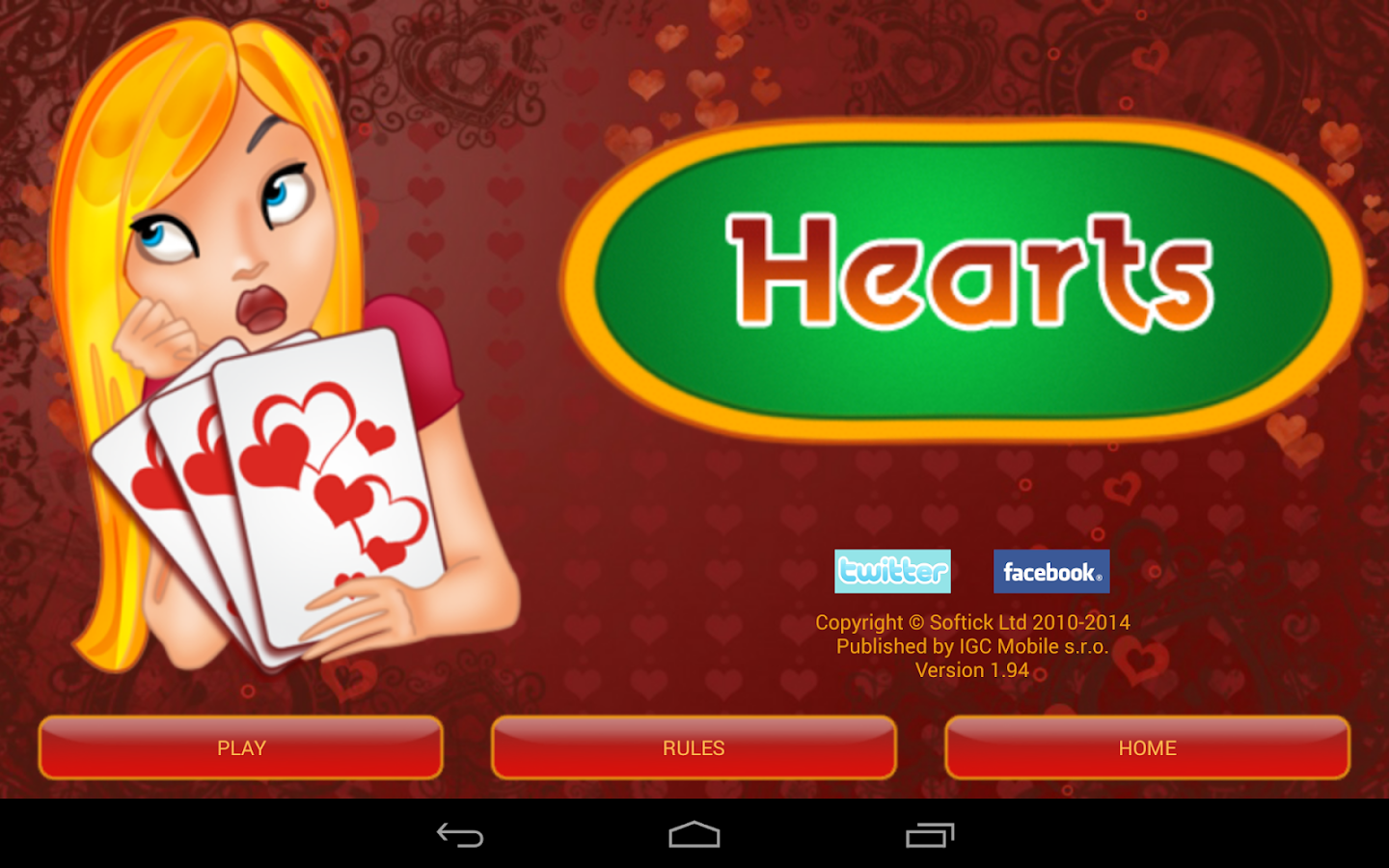 Hearts Deluxe - screenshot