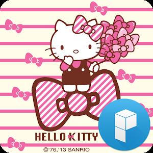 헬로키티 핑크 리본 확장팩 런처플래닛 멀티 테마 APK
