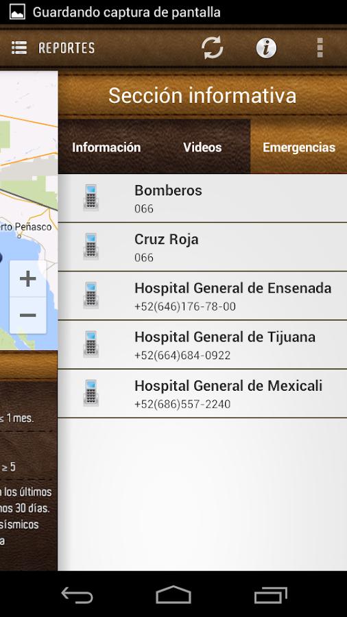 Red Sísmica Noroeste de México - screenshot