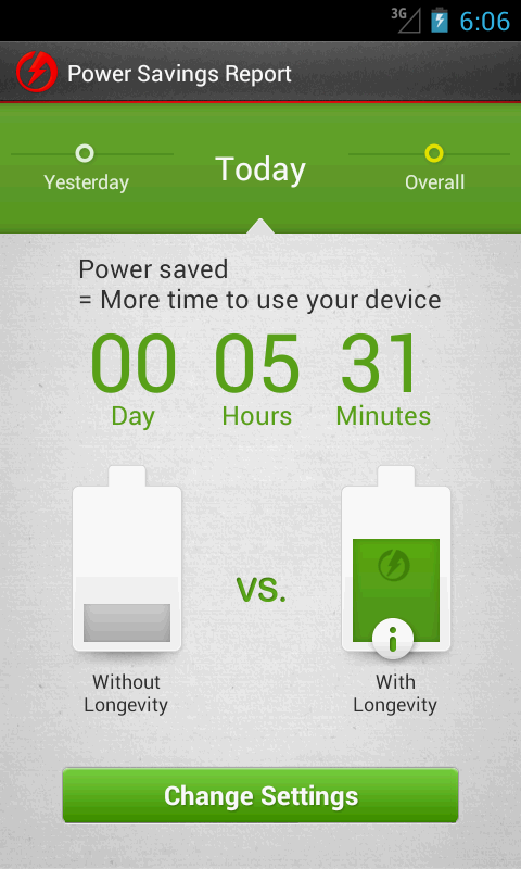 Longevity - Battery Saver - screenshot