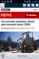 Screenshot of UK News Alerts