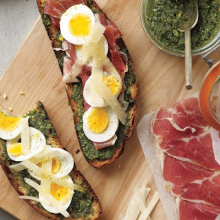 Open-Faced Egg Sandwiches with Celery-and-Radish Salad.