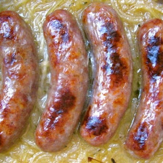 Sausages with Ale Onions