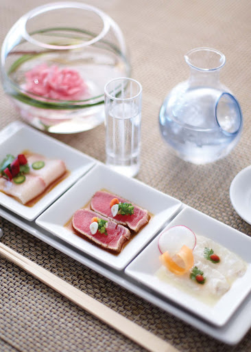 The Nobu Sushi Trio doesn't make you choose: Sample several types of sushi while dining on the Crystal Serenity.