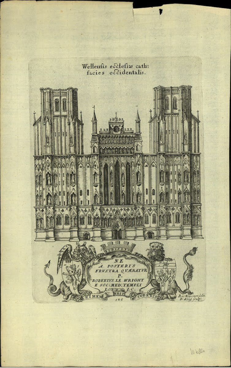 Top Euro (Bri-E) Somerset Wells Cathedral-Interior & Engravings