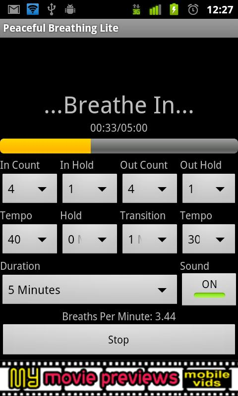 Peaceful Breathing Lite - screenshot