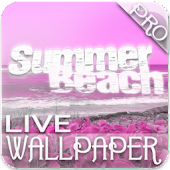 Pink Beach Live Wallpaper PRO
