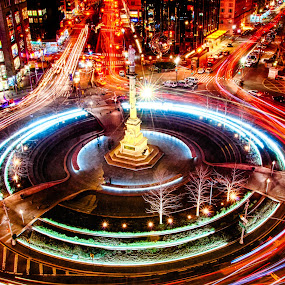 Columbus Circle by Robb Harper - Buildings & Architecture Public & Historical ( hdr, columbus circle, photos by robb harper, long exposure, nyc )
