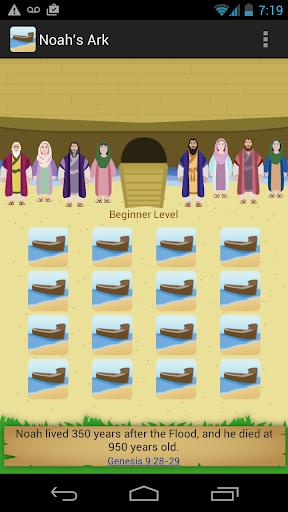 Noah's Ark Bible Match Game