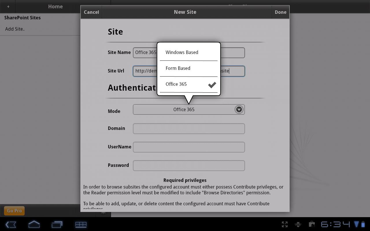 SharePlus Lite: SharePoint App - screenshot