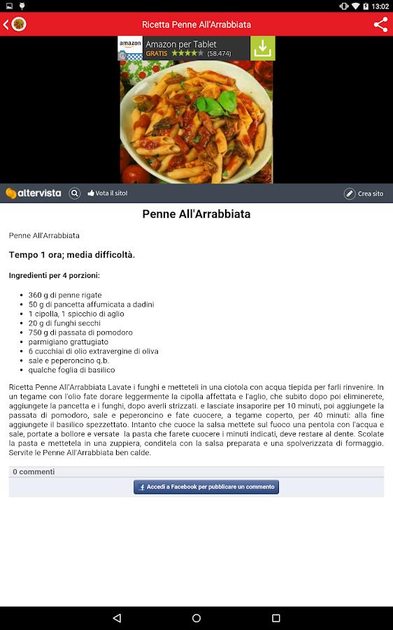 Ricette Italiane della Mamma - screenshot