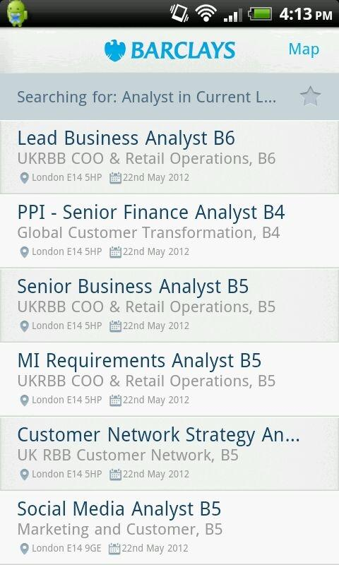 Barclays Jobs - screenshot