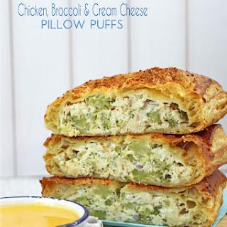 Chicken, Broccoli & Cream Cheese Puffs.