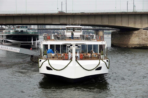 Viking Gullveig on her maiden voyage in Cologne, Germany.