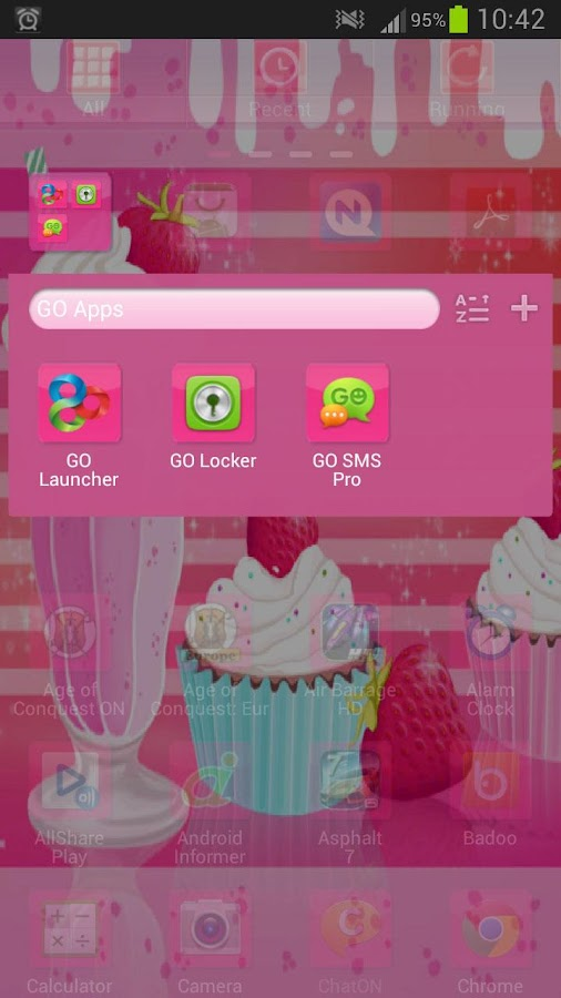 GO Launcher EX Muffin Shake - screenshot