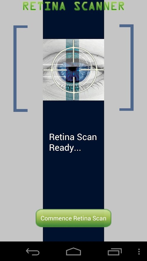Retina Scanner HD - screenshot