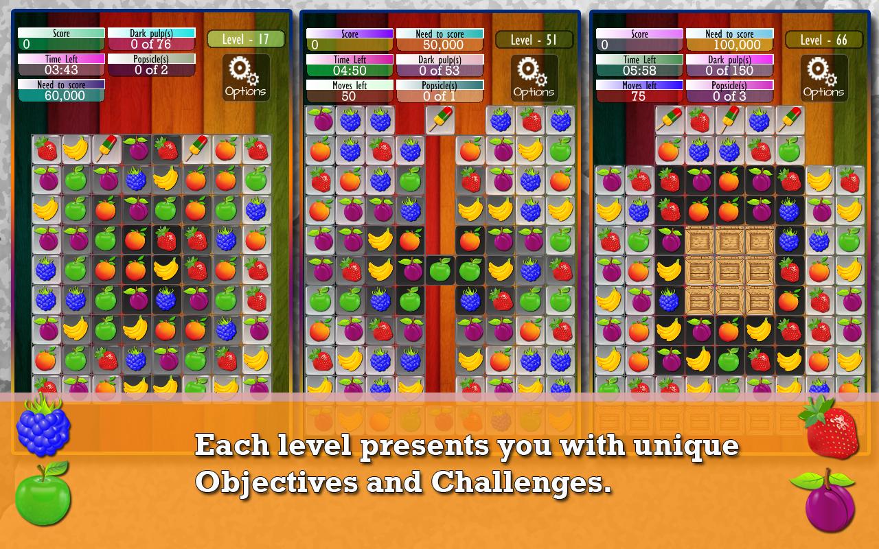 Fruit pop crush game - Fruit Drops Match Three Game Screenshot