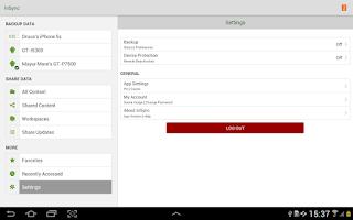 Screenshot of inSync Companion