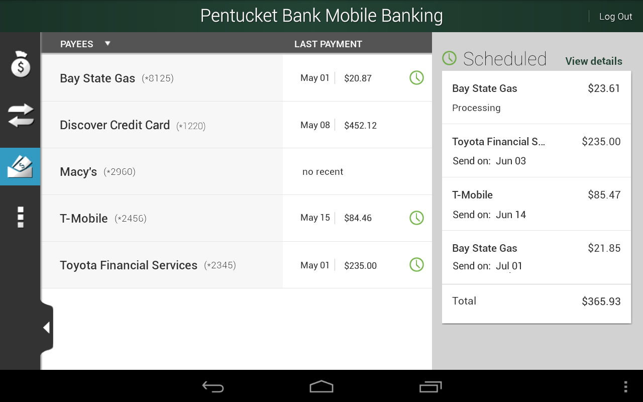 Pentucket Bank - screenshot