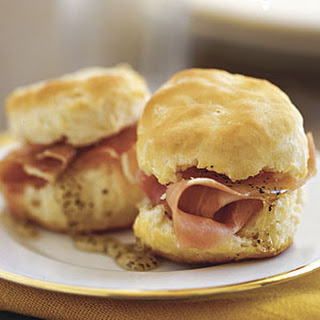 Country Ham Mini Biscuits.