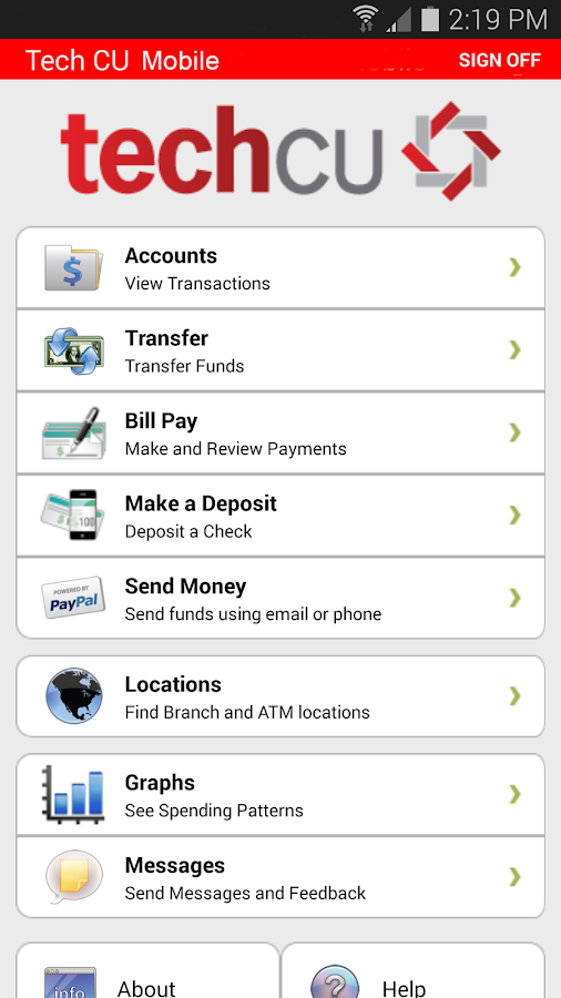 TechCU Mobile Banking - screenshot