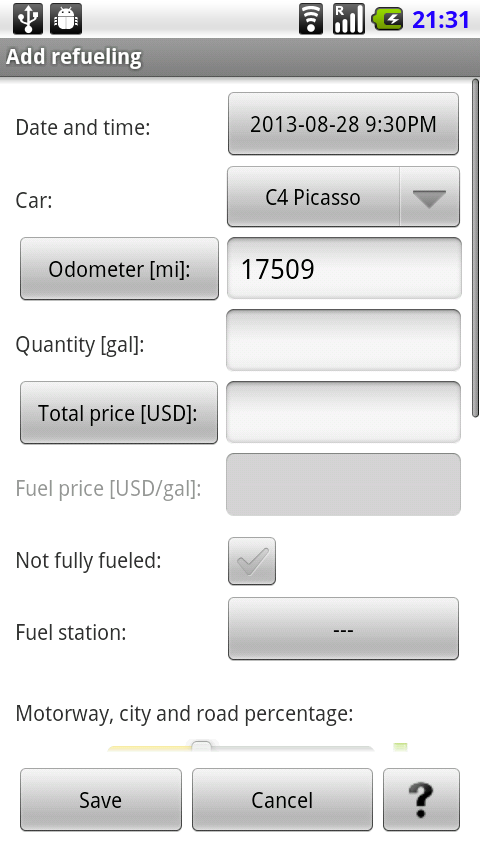 Car Costs Complete - screenshot