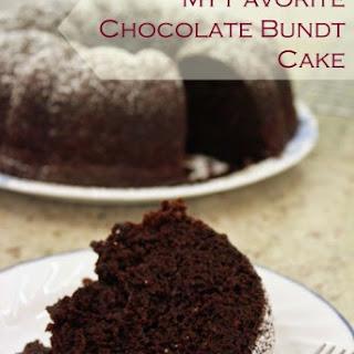 My Favorite Chocolate Bundt Cake