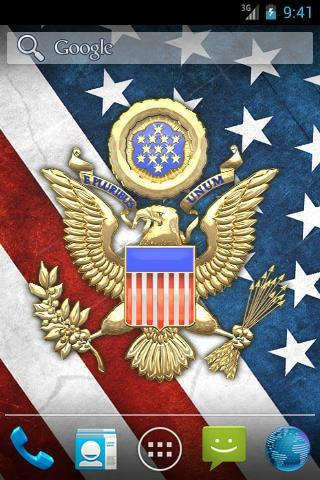 3D USA Coat of Arms Flag LWP