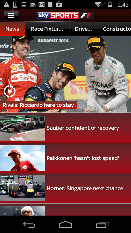 Sky Sports for Android- screenshot