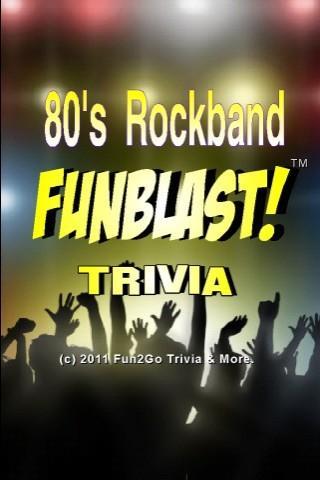 80s Rockband FunBlast! Trivia- screenshot