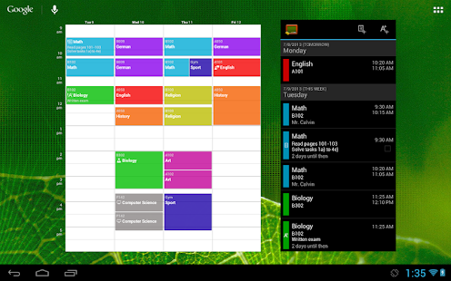 My Class Schedule (donation)- screenshot thumbnail