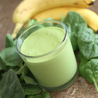 Peanut Butter Banana Spinach Smoothie.
