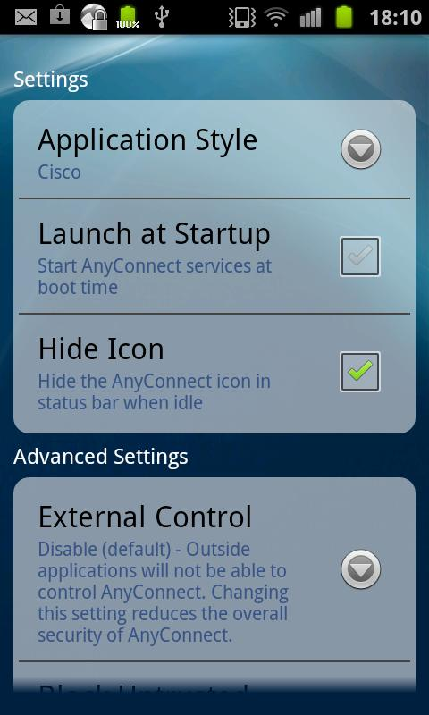 Samsung AnyConnect - screenshot