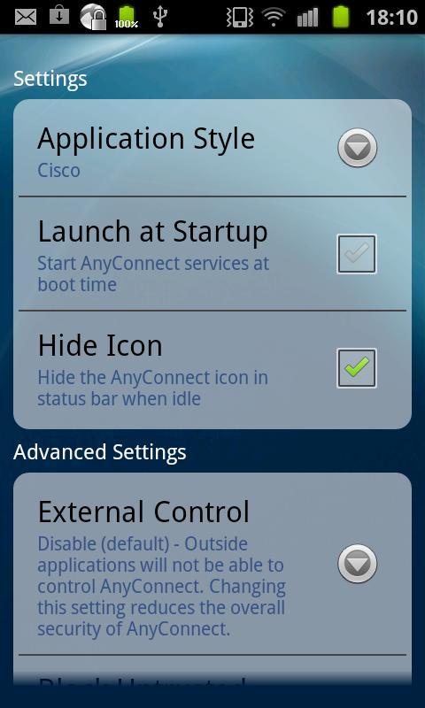 Samsung AnyConnect - screenshot